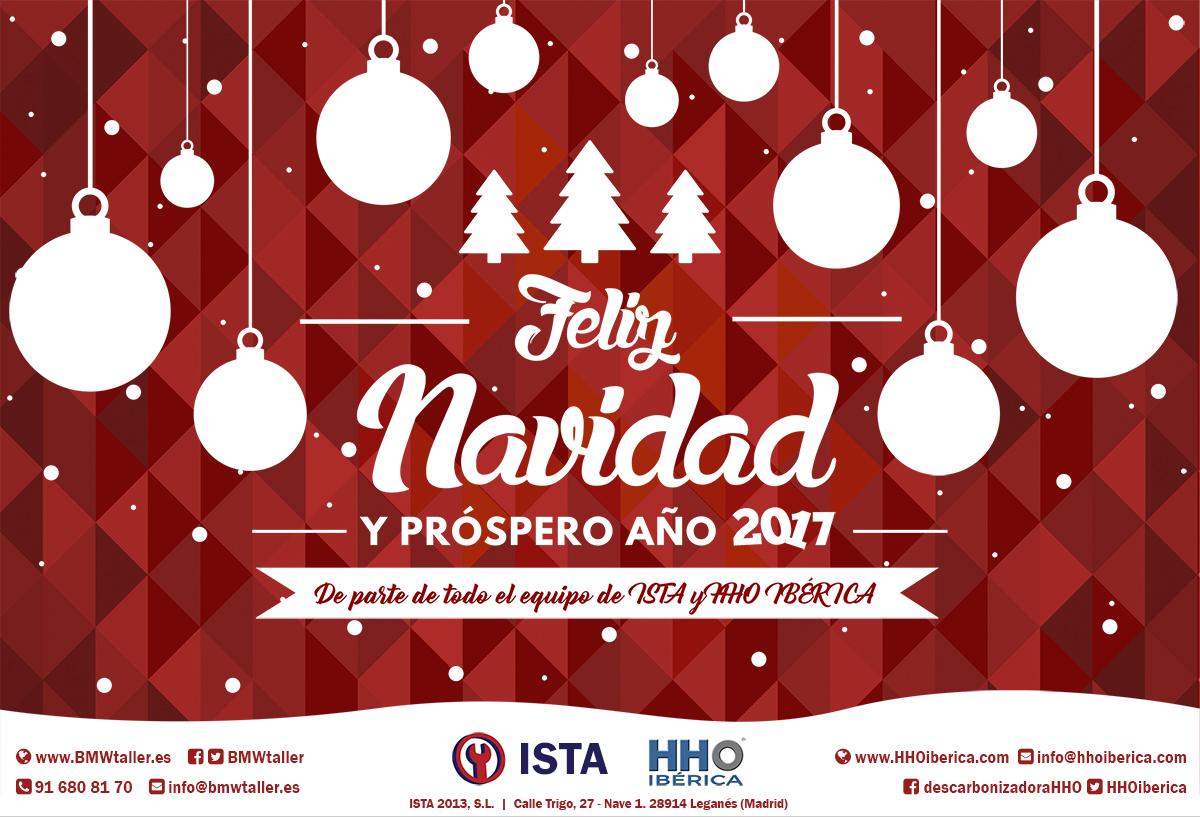 El Equipo De ISTA Os Desea Una Feliz Navidad Y Un Próspero 2017